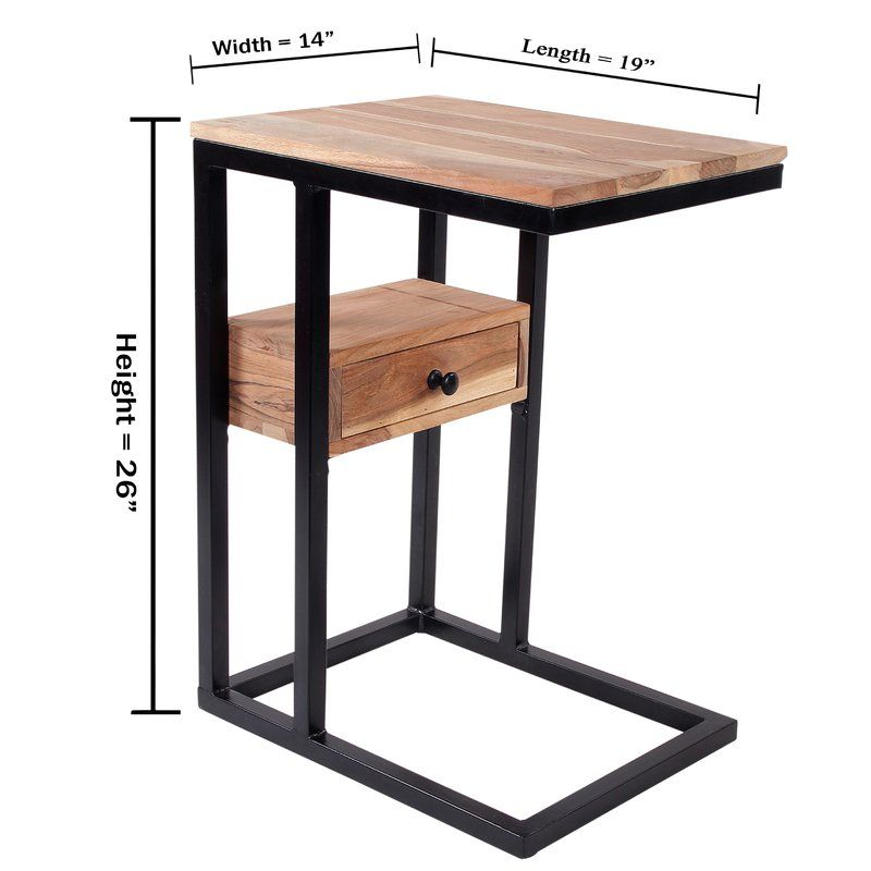 Best Xander C End Table With Storage End Tables With Drawers 640 x 480