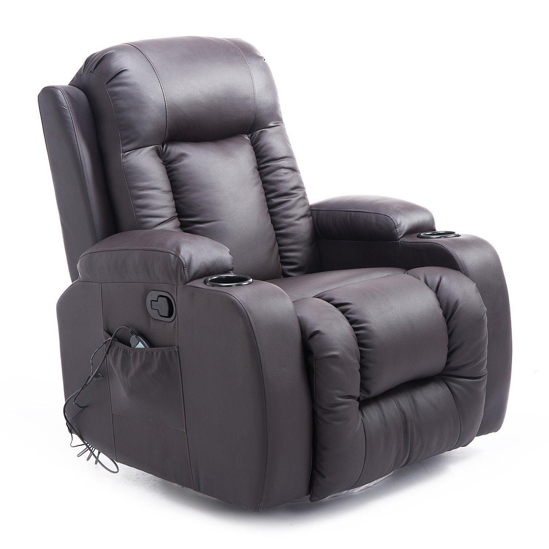 Luxury Faux Leather Heated Vibrating Massage