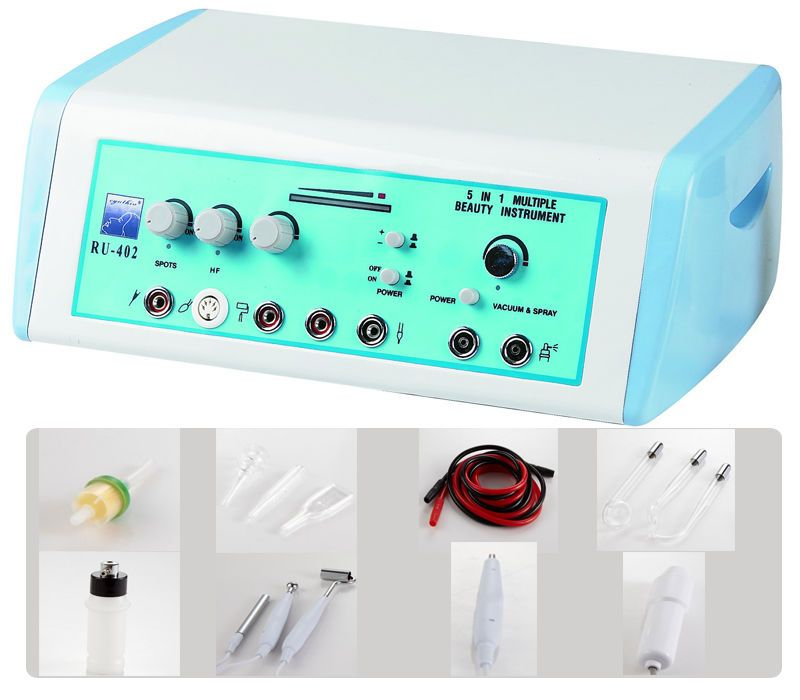 5 In 1 High Frequency Galvanic Acne Spotted Removal Face Skin Beauty Machine Acne Spots Face Skin Care Face Skin