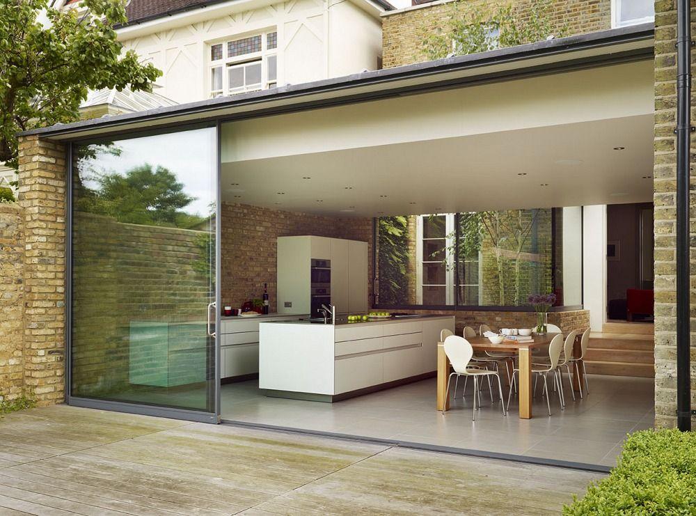 Kitchen architecture home minimal urban living for Extension maison verre