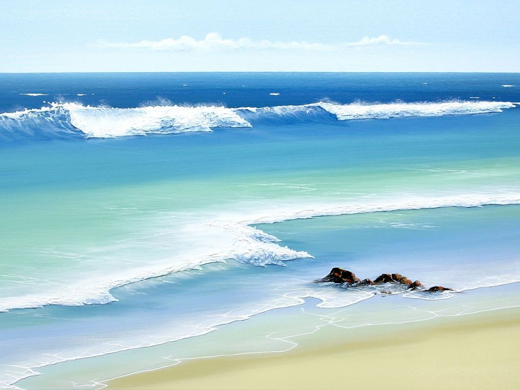 ocean waves beach | Su...