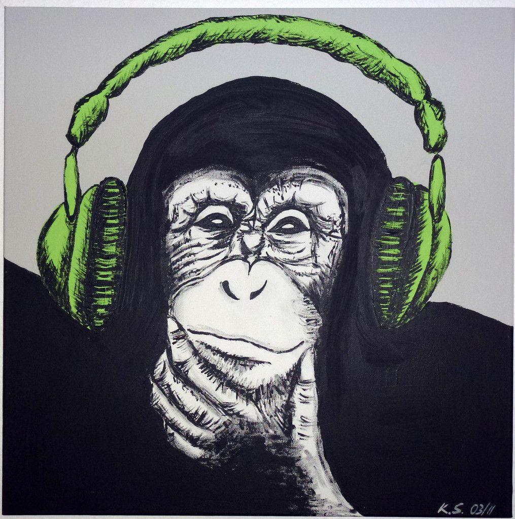 Printdesign Affe Monkey Acryl Allgaeu Art Kunst Zeichnung