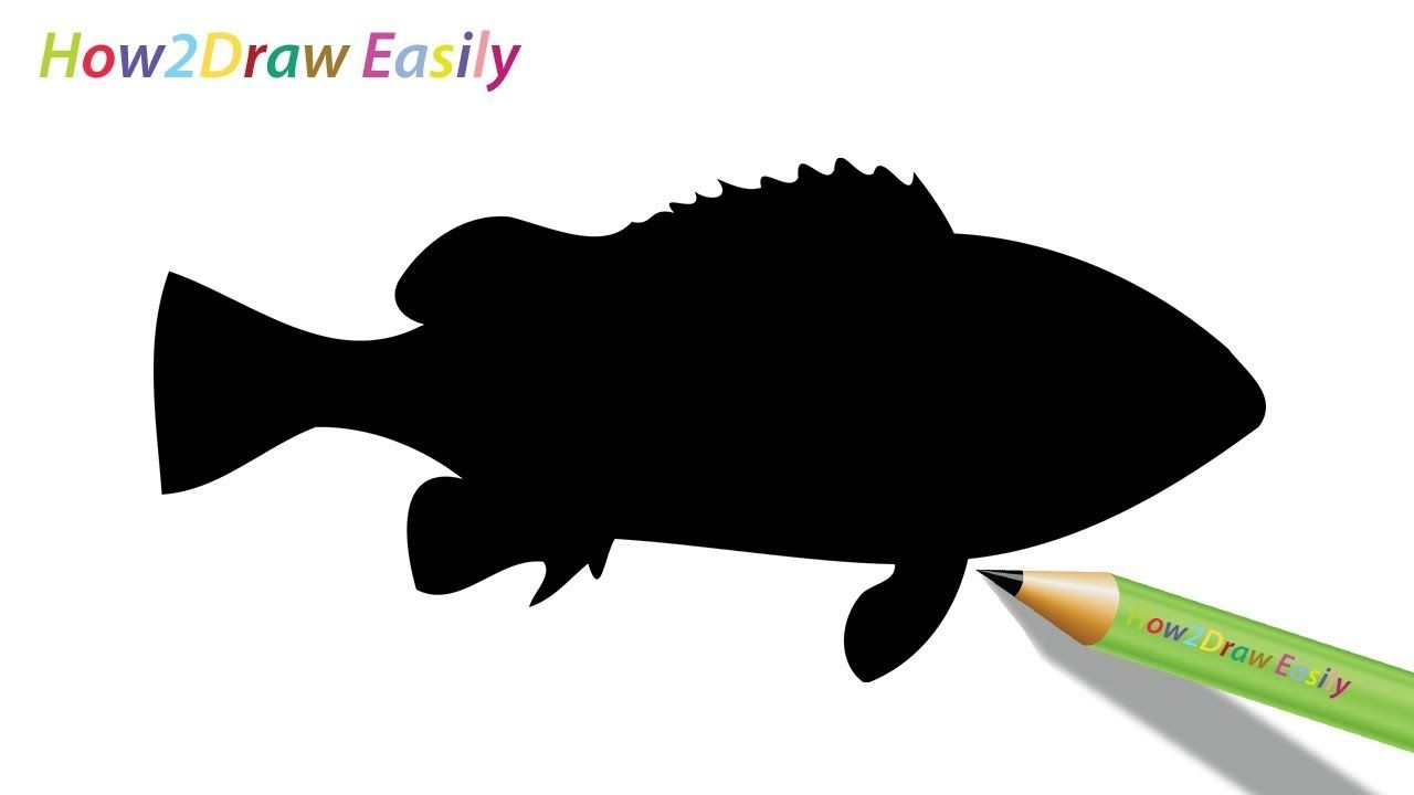 Draw A Fish Silhouette Fish Silhouette Easy Drawings Silhouette Drawing