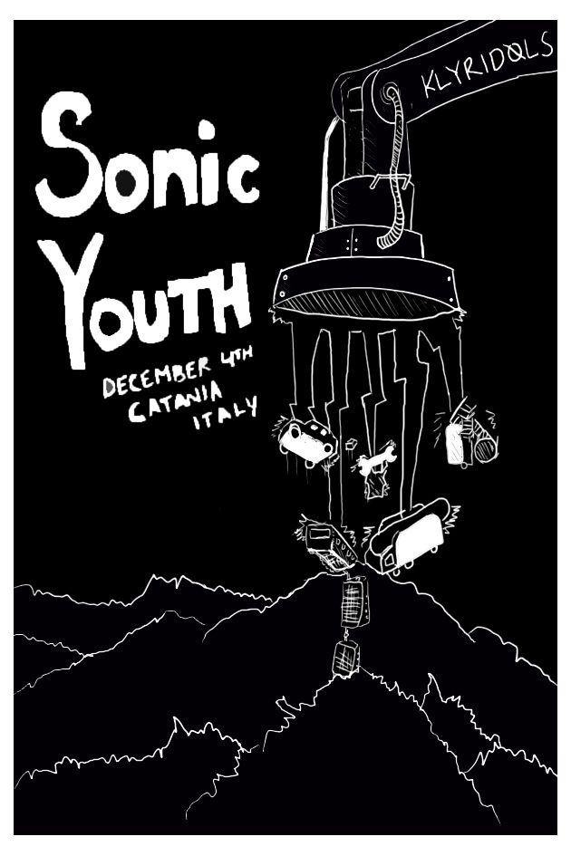 Sonic Youth Flyer Flyers Youth Band Y Music