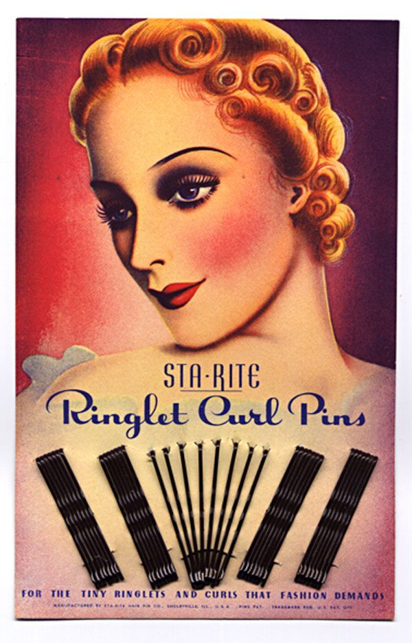 1930s Bobby Pin Card A History Of Fashion Vintage Makeup Ads - 1920s-makeup-ads