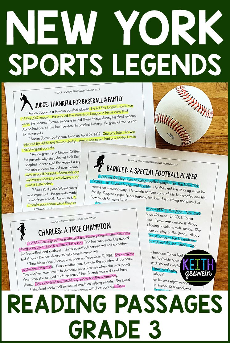Ny Sports Reading Passages Grade 3 Reading Passages Nonfiction Reading Passages Third Grade Reading Activities [ 1111 x 746 Pixel ]