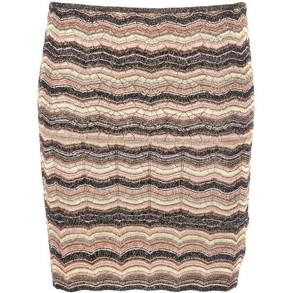 MISSONI FITTED KNIT SKIRT ($335) ❤ liked on Polyvore