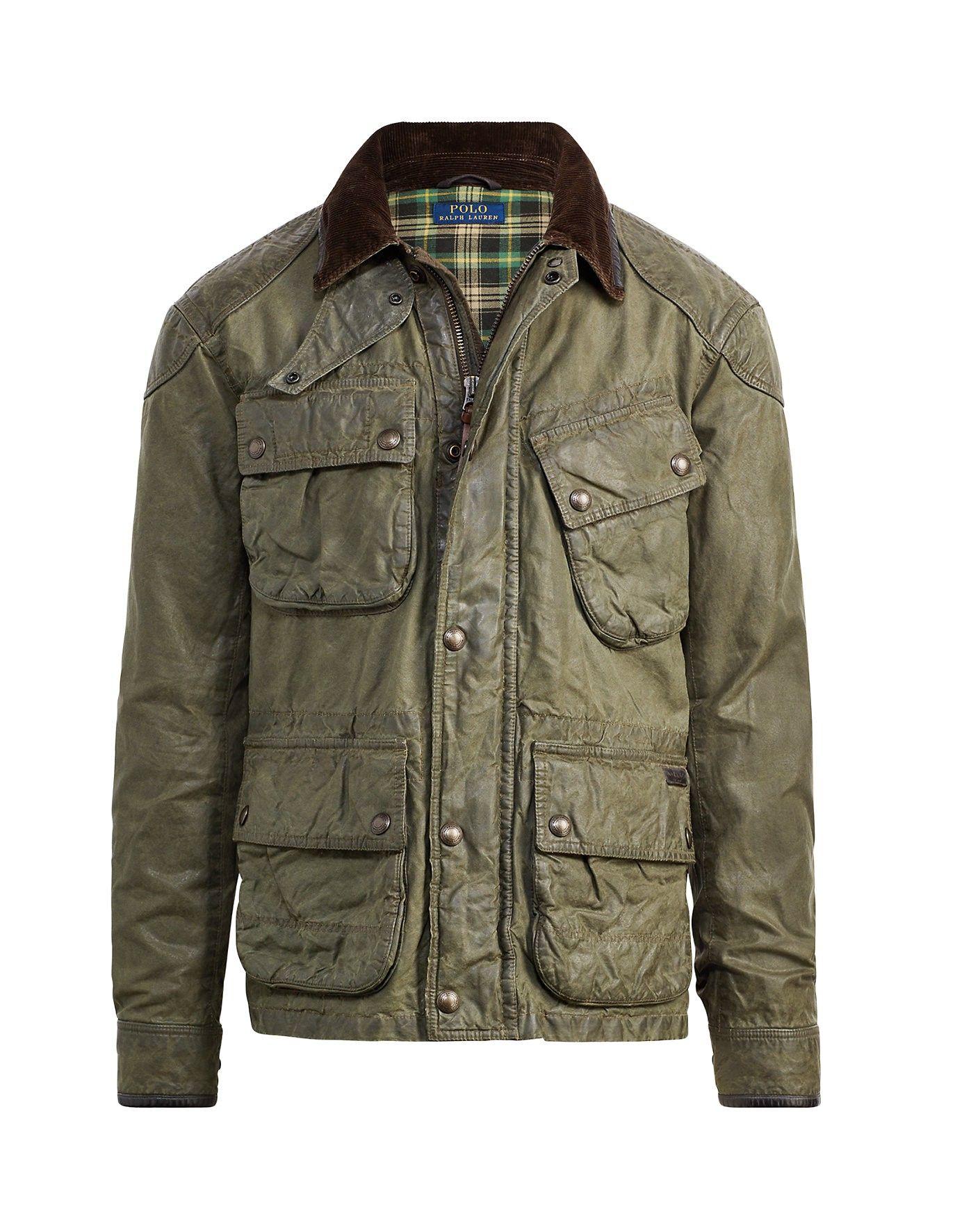 80f3cc9544e8 RALPH LAUREN Polo Ralph Lauren The Iconic Waxed Biker Jacket.  ralphlauren   cloth