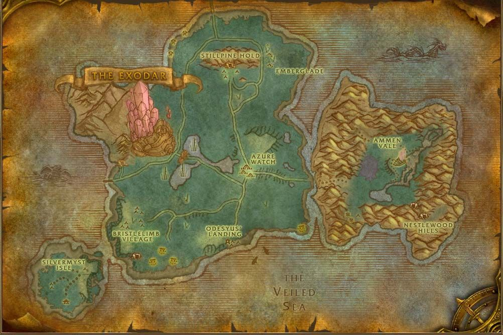 Azuremyst Isle Map with Locations, NPCs and Quests - World of ... on draenor map, wow fossil dig sites map, azeroth map, stormwind map, orgrimmar map, guild wars 2 gendarran fields map, lordaeron map, molten core map, desolace map, dragonblight map, darkshore map, bloodmyst isle map, thousand needles map, eastern kingdoms map, ashenvale map, wrath of the lich king map, dustwallow marsh map, emerald dream map, undercity map, netherstorm map,