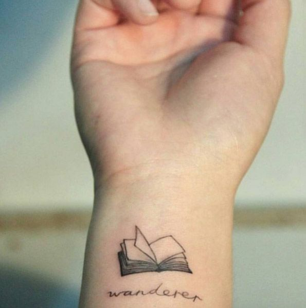 40+ Amazing Book Tattoos for Literary Lovers | — Tattoos — | Writing ...