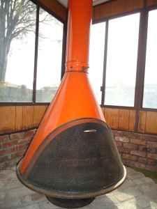 Beautiful Mid Century Retro Fireplace - indoor / outdoor - $400 ...