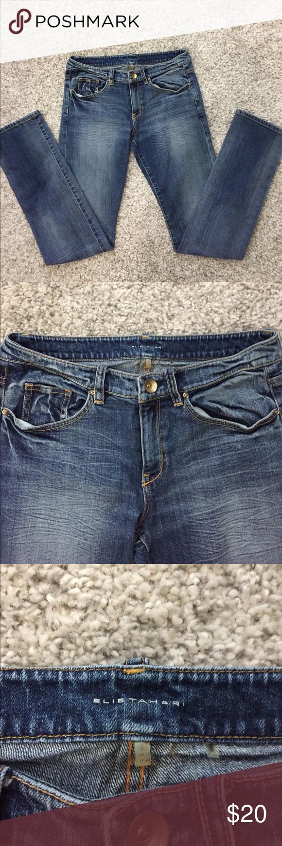 """❗️FLASH SALE❗️Elie Tahari Jeans Adena Straight 28 Elie Tahari Adena Straight Jeans - 28/29  Measurements: Inseam: 30""""                     Waist: 29"""" Rise: 8"""" Elie Tahari Jeans Straight Leg"""