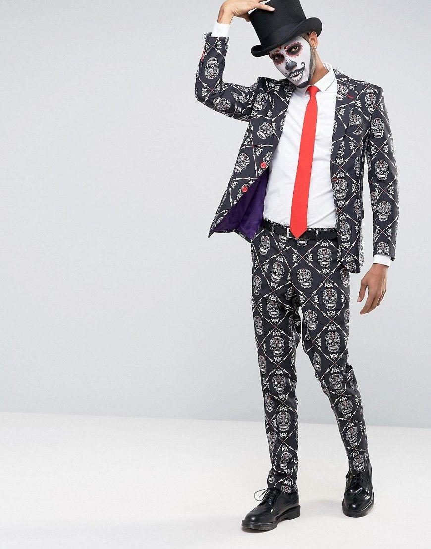 Halloween Skull Suit + Tie | Halloween Weddings | Pinterest ...