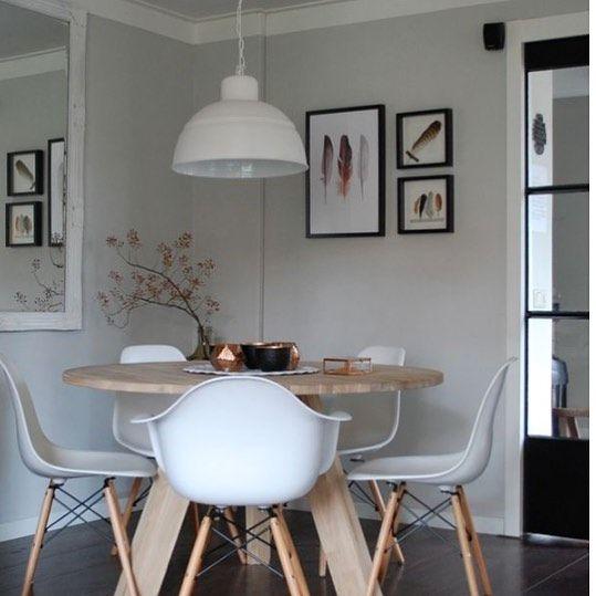 Woood Ronde Tafel Wit.Interieur Blog Maison Belle Onze Ronde Eettafel Van Woood