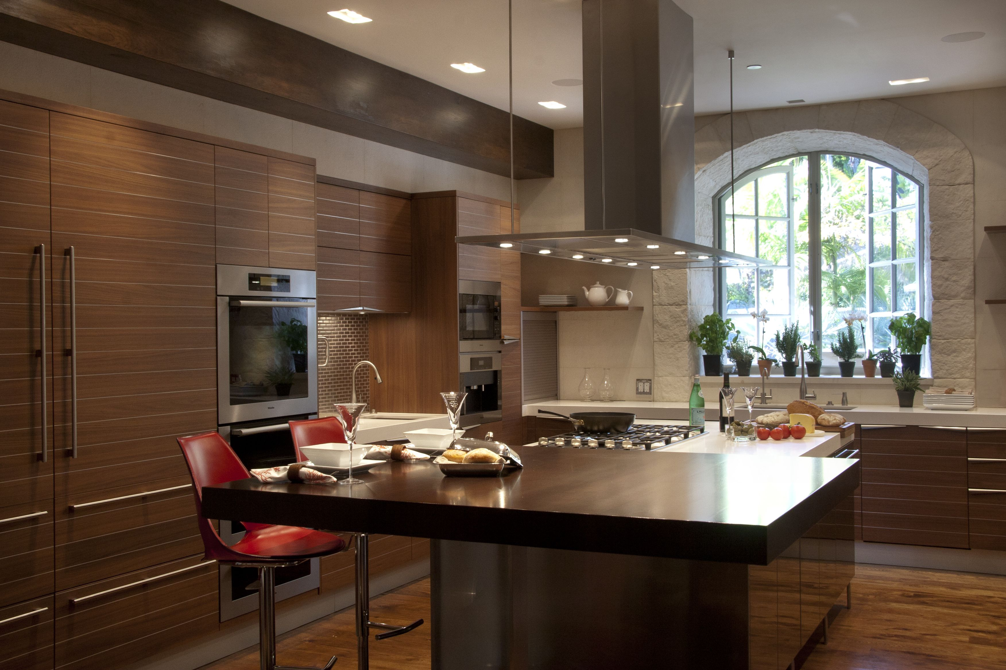 Time kitchen by Snaidero USA Los Angeles Wood kitchen with stainless ...