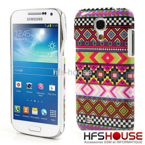 new style 4da0b caeb6 Coque Housse Etui Pour Samsung Galaxy S4 Mini Azteque Hard Case Hoes ...