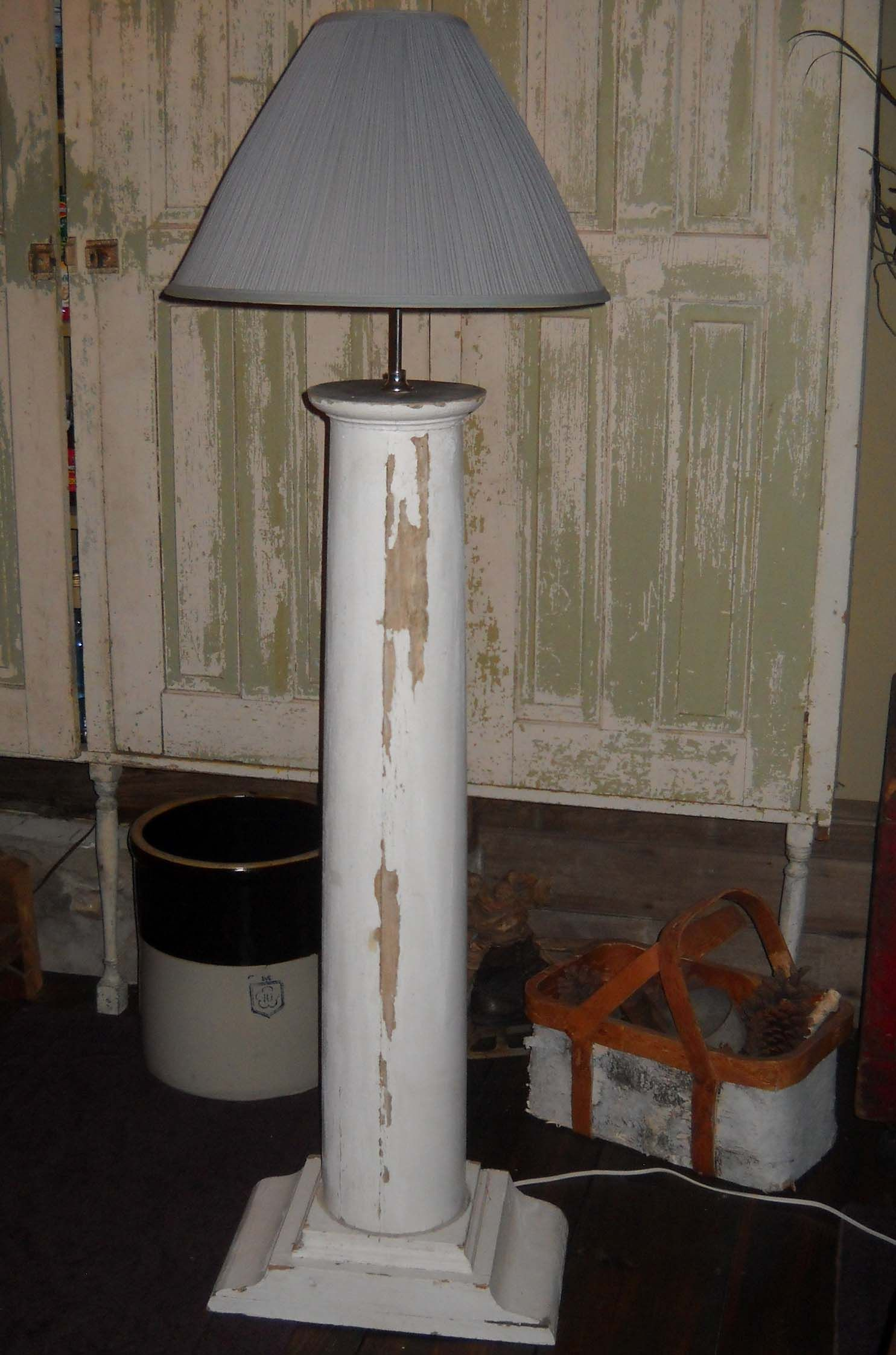 Column Floor Lamp Found A Porch Column At Habitat For Humanity Store And Made It Into
