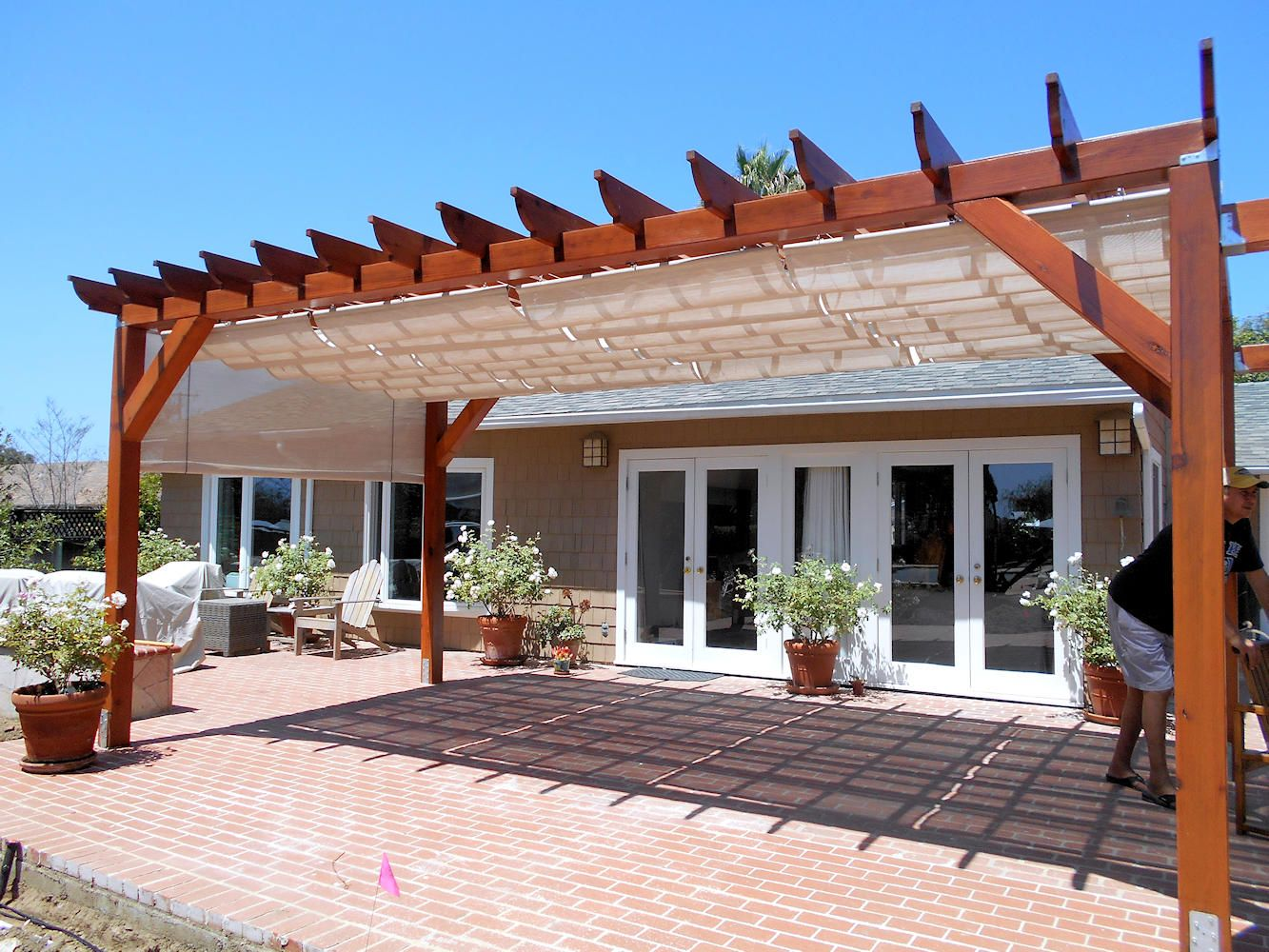 fixed fancy lovable awning as outdoor exterior decors wood small double little under design wooden window ideas covers house white deck frames in awnings patio home for your shade glass