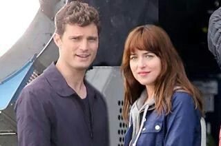 Love this pic of Mr. Grey and Anastasia