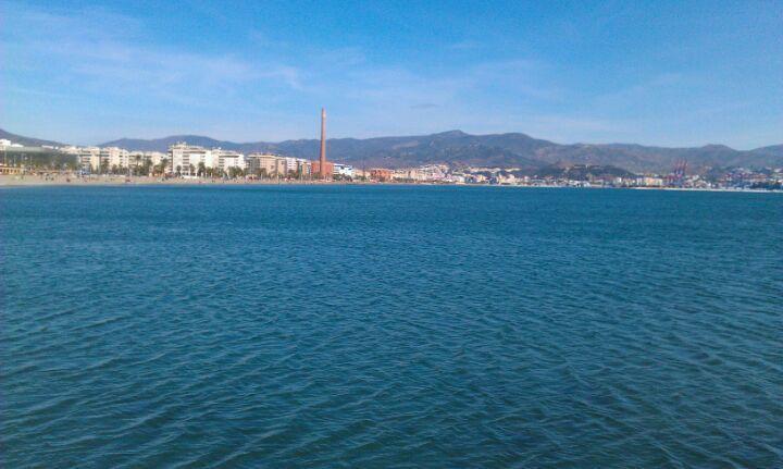 Espigón de la Térmica en Málaga, Andalucía
