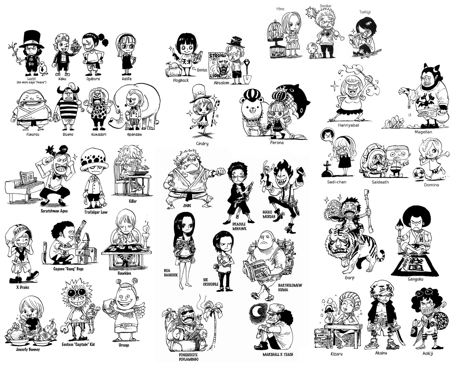 one piece characters as kids | イラスト書き方 | pinterest