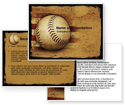 American Baseball Powerpoint Template   Whc  Trivia Night