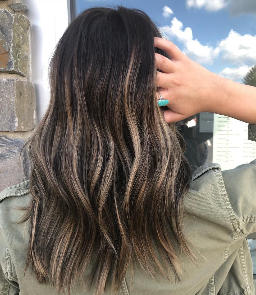 Brunette Hair Color Ideas Blonde Highlights On Brown Hair Fall Hair Ideas Bal Brunette Hair Color Medium Length Brown Hair Brown Hair With Blonde Highlights