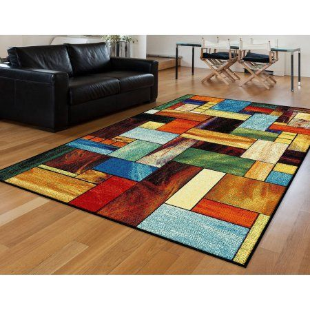 Bliss Rugs Cherol Contemporary Area Rug, Multicolor