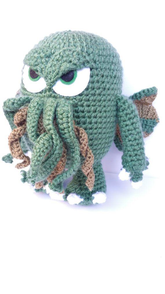 Big Cthulhu/ cthulhu plush/ 9\'\' / The call of cthulhu/ Hp Lovecraft ...