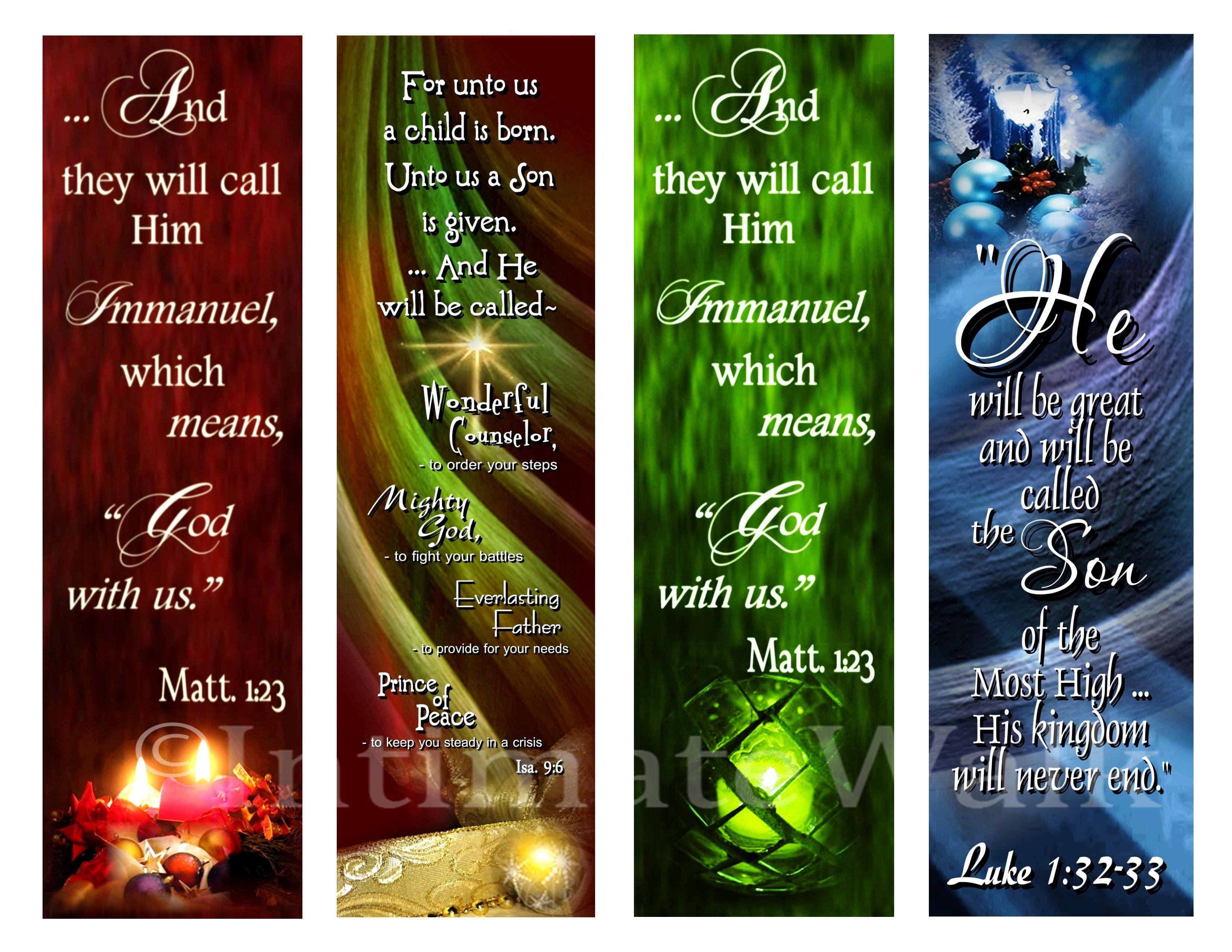 Christmas Bookmarks | bookmarker | boekenlegger | Pinterest ...