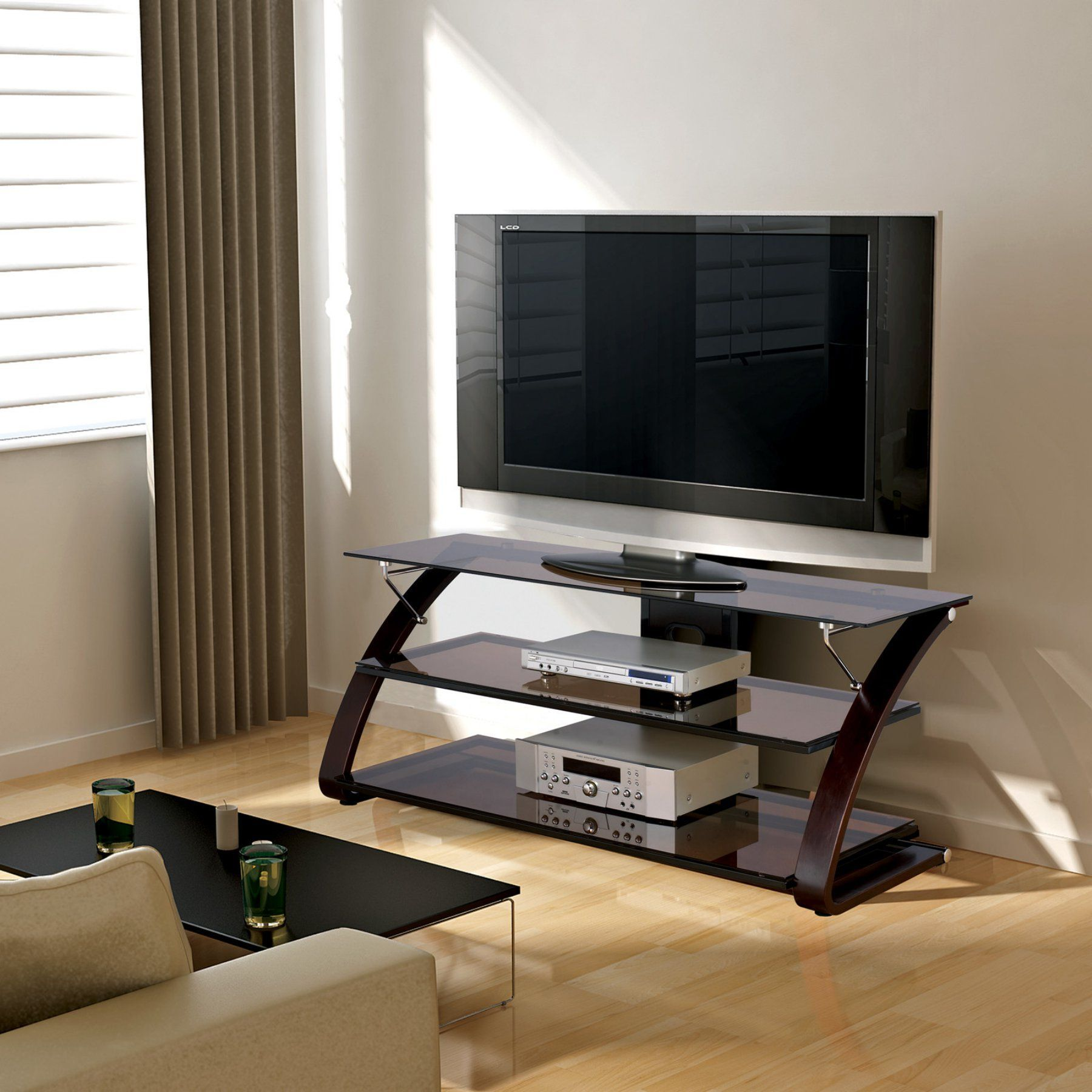 Zline keira tv stand mocha zlsu tv stands mocha brown
