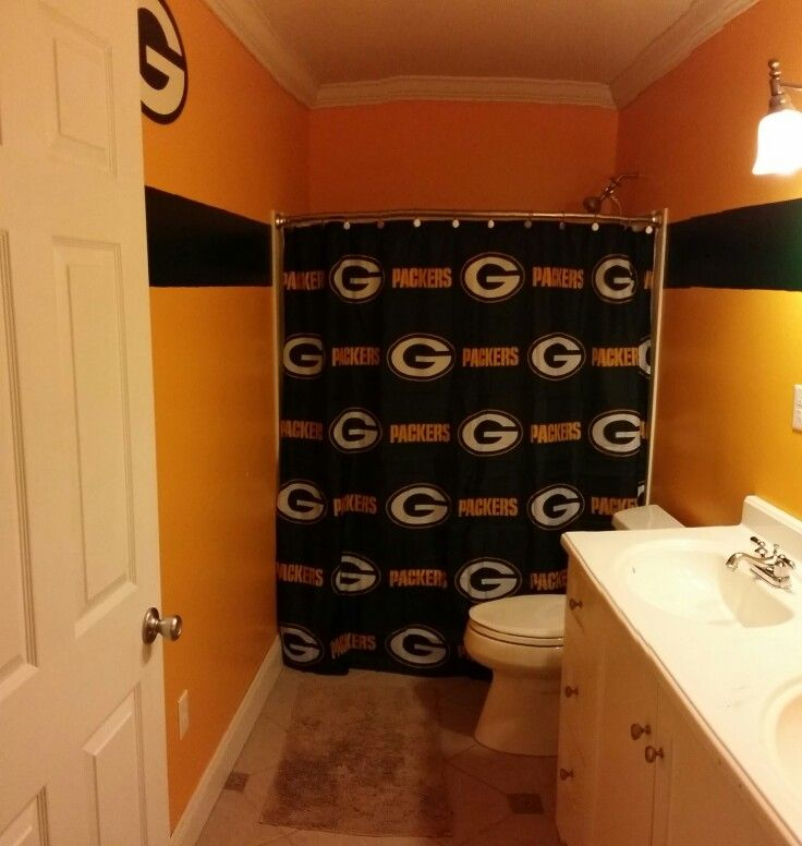 Green Bay Packers Bathroom Finally Finished Home Depot Carries
