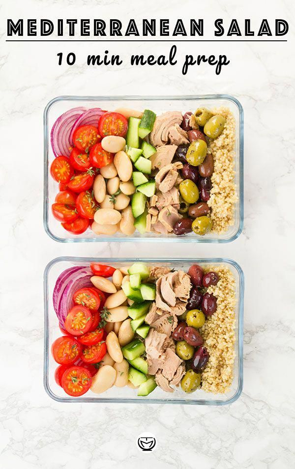 time for cooking? Go for a tasty and super quick salad, packed with protein and full of Mediterranean flavors: it's super easy to prepare, healthy and inexpensive, a perfect last minute meal prep!