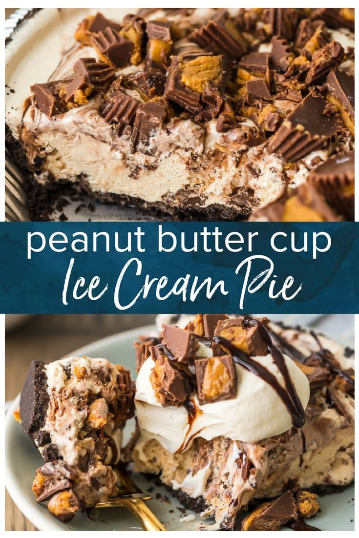 Chocolate Peanut Butter Pie - Easy Peanut Butter Cup Ice Cream Pie