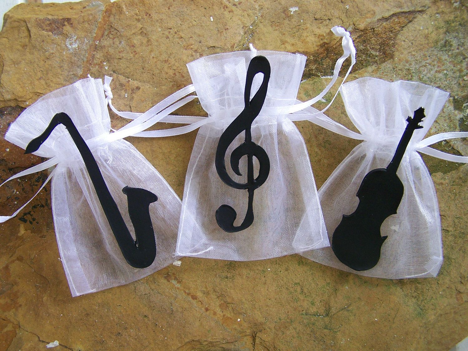Amazing Music Themed Party Decorations Ideas Part - 14: Music Party Supplies Theme Favor Bags 10 By FavorsByGirlybows, $11.00