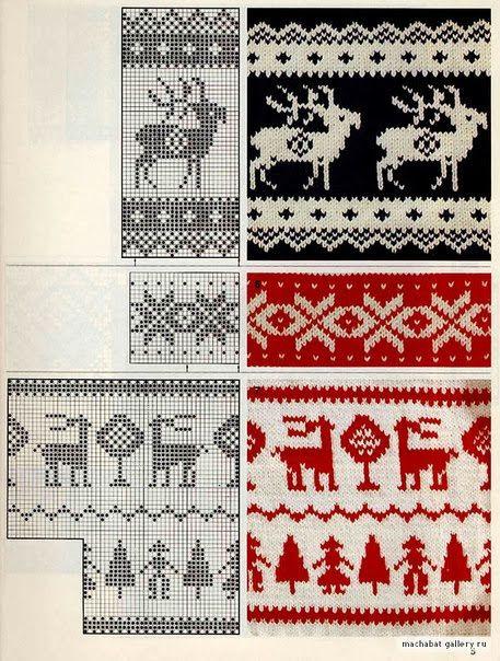Knitting: noruegos adornos \