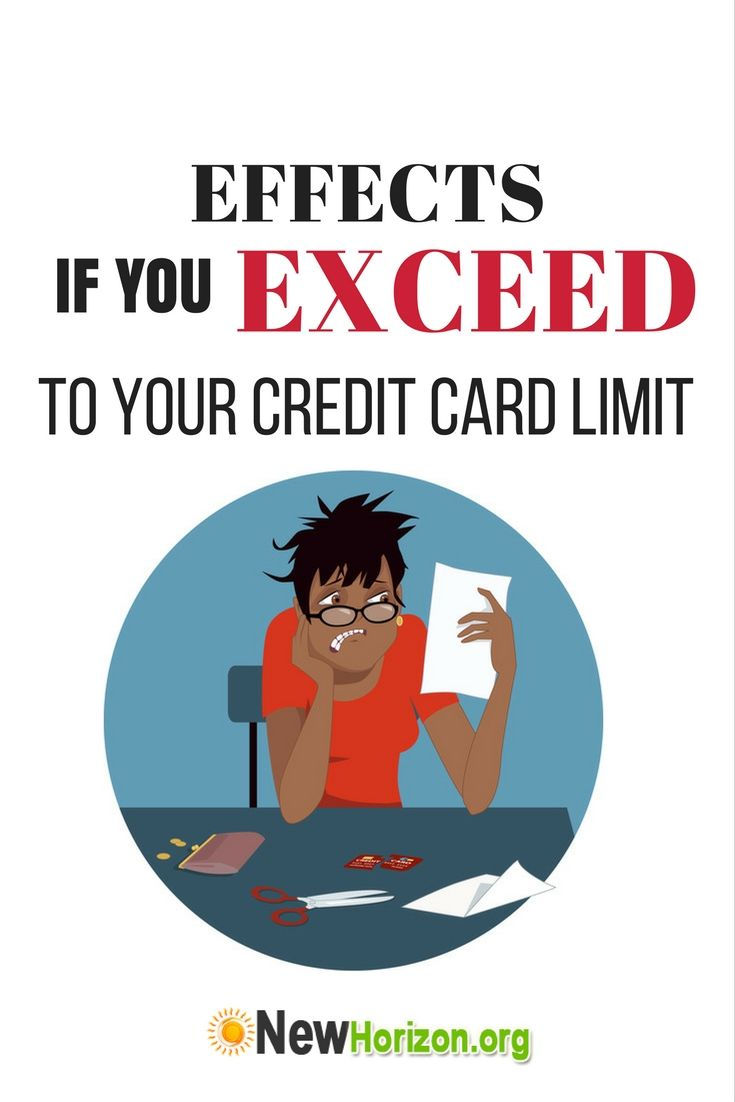 Effects if you exceed to your credit card limit small