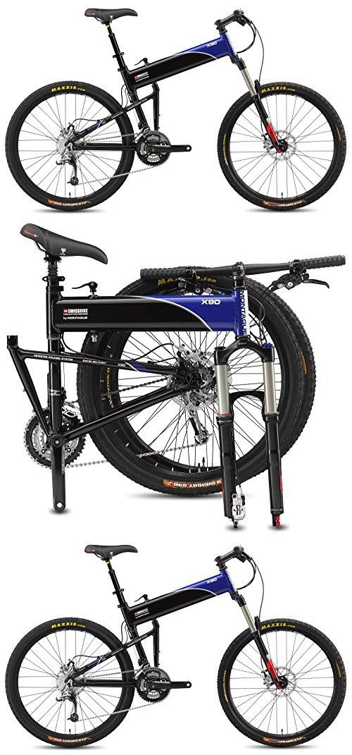 2015 Montague 18 Inch Swissbike X90 Folding Bike Black Blue