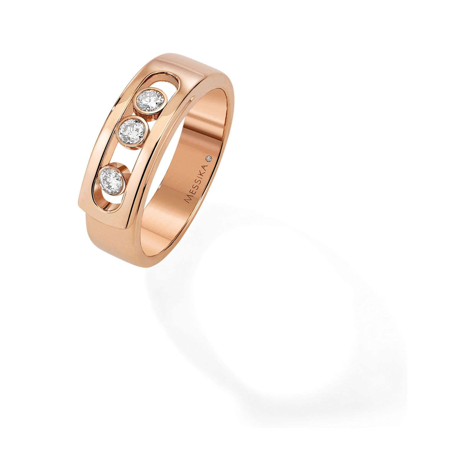 Messika 18ct Rose Gold Move Diamond Ring Rings Jewellery