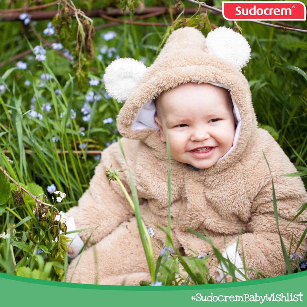 A unique and cosy baby bear onesie! #SudocremBabyWishlist