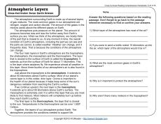 Printables Layers Of The Atmosphere Worksheet of the atmosphere worksheet for kids davezan layers davezan