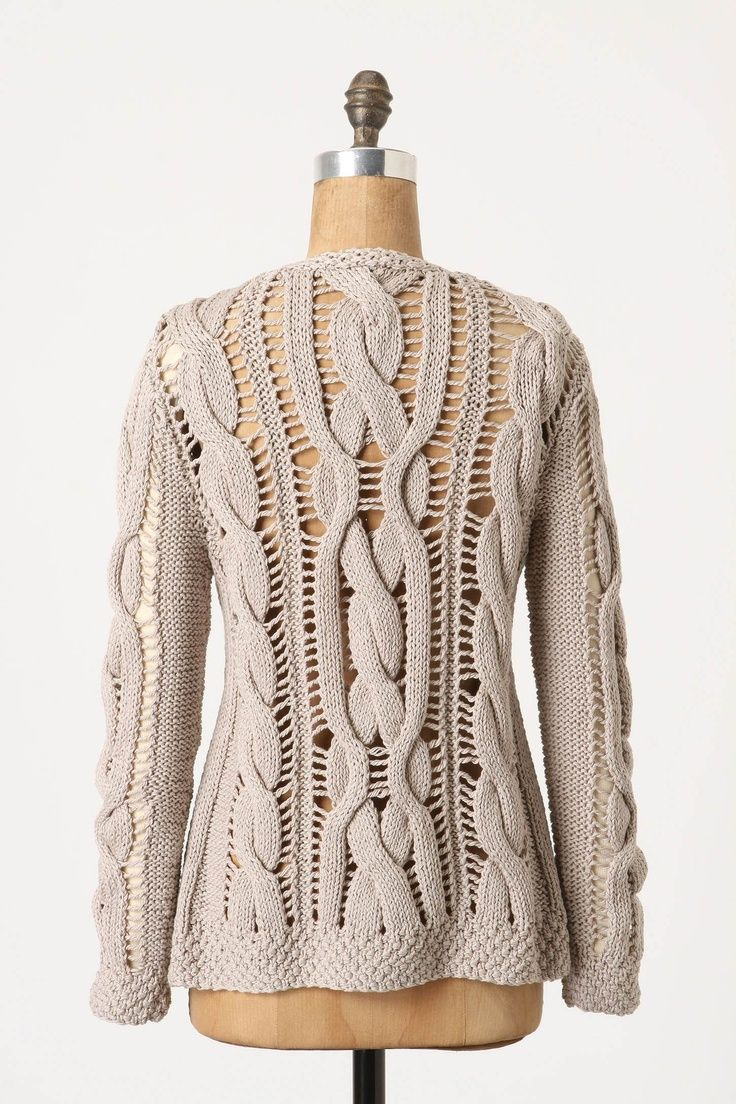 Chunky knit short and long and button style cardigan designs (1 ...