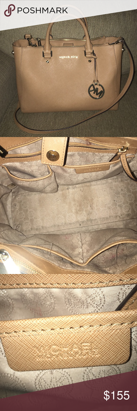 Michael Kors Purse Gently Used Authentic Tags Not Included Small Stain On The Inside Of Lining See Pictures Bags