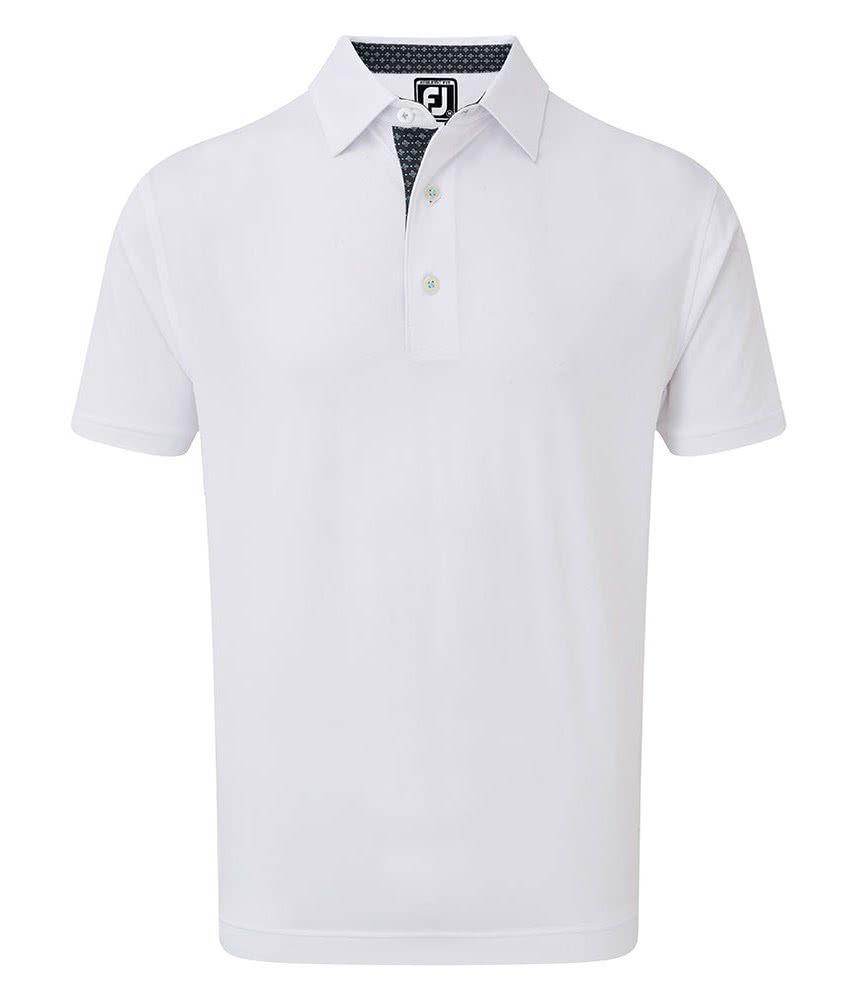 a468b463f FootJoy Mens Super Stretch Pique Foulard Print Trim Polo Shirt ...