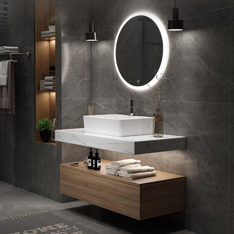 Modern 36 40 Floating Wall Mount Single Bathroom Vanity Set With Faux Mable Top Vessel Sink White Natural White Black Modern Bathroom Bathroom Design Modern Master Bathroom