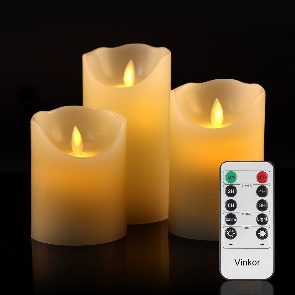 Vinkor flameless candles battery operated candles led candles set