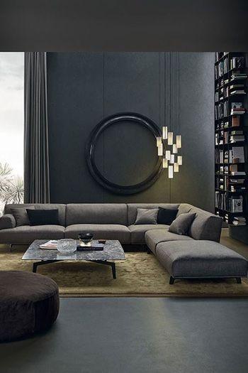 Woonkamer inspiratie: donkere kleuren in de woonkamer | Interiors ...