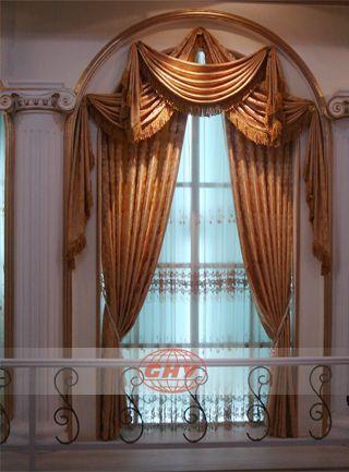 arch curtain pattern window curtain