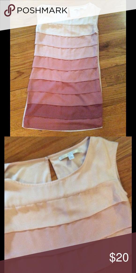 Spring dress Cute ombré pink LC Lauren Conrad Dresses