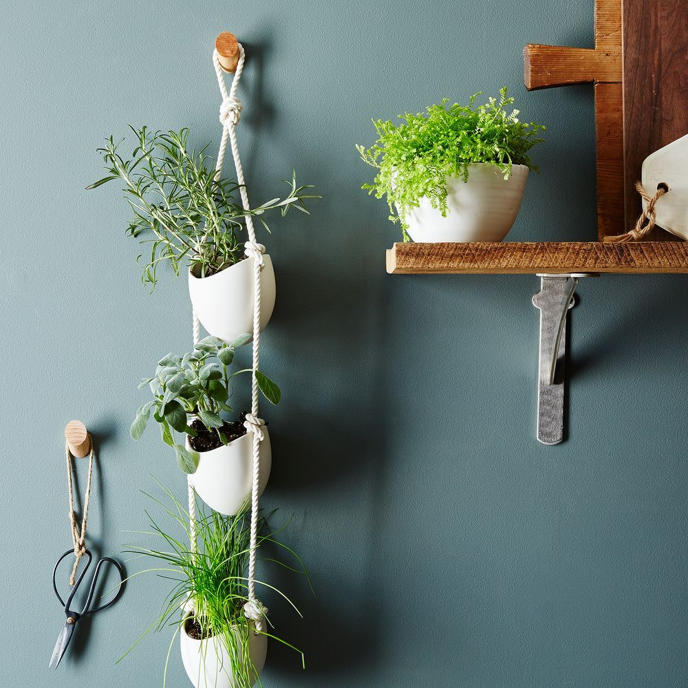 3 Tier Ceramic And Leather Hanging Planter Hanging Planters Wall Mounted Planters Wall Mounted Planters Outdoor